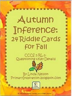 Pinterest Pin of the Week: Autumn Inferencing -repinned by @PediaStaff – Please Visit ht.ly/63sNtfor all our pediatric therapy pins