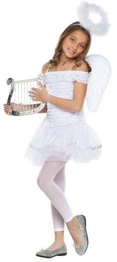 Little Angel Child Costume This costume includes dress, wings and halo headband. Does not include necklace, tights, harp, or shoes. Girls Angel Costume, Girl Costumes, Adult Costumes, Angel Costumes, Best Friend Halloween Costumes, Halloween Outfits, Halloween Kids, Halloween 2017, Halo Headband