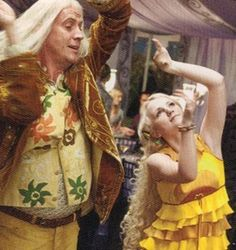 That awkward moment when you don't know if they're dancing or attempting to catch nargles.