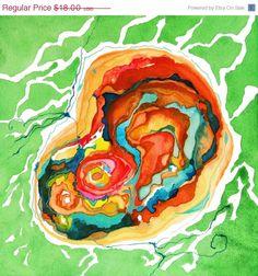 Watercolour multi coloured delight