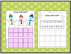 Scoop and Count - Each child takes a scoop of marshmallows and counts them by using the tens frames. Then, they record the amount on the recording sheet.