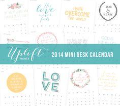 2014 Mini Desk Calendar by UpliftPrints