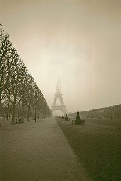 The calm after the storm, Eiffel Tower, by Nathalie Swainston.