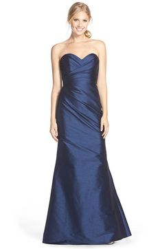 Jim Hjelm Occasions Style JH5559 (Strapless Dupioni Sweetheart Trumpet Gown)