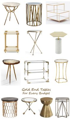gold end tables for every budget