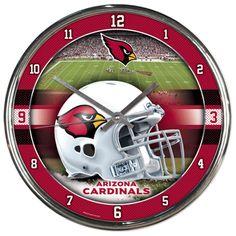 Arizona Cardinals NFL Chrome Round Clock