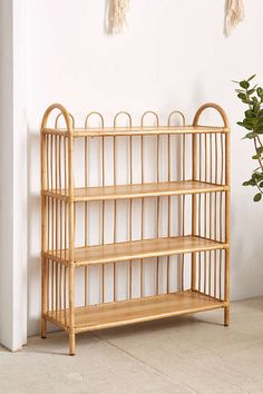 Magical Thinking Alma Rattan Bookshelf - Urban Outfitters…this matches the crib perfectly Diy Furniture Cheap, Diy Furniture Renovation, Diy Furniture Hacks, Bamboo Furniture, Home Furniture, Furniture Design, Furniture Legs, Garden Furniture, Furniture Websites