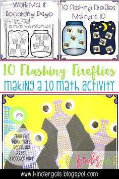 "Making a 10 with Flashing Fireflies"" Kindergarten Math Activities, Kindergarten Classroom, Kindergarten Activities, Classroom Ideas, Math 2, Kid Activities, Teacher Page, Math Addition, Readers Workshop"