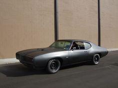 '69 Pontiac GTO. I love the matte black.
