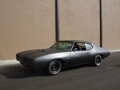 '69 Pontiac GTO. I love the matte black.