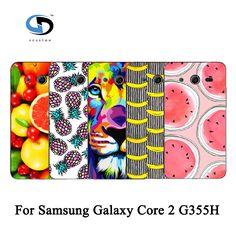 Luxury Cute Fruit Art Printed Plastic Hard Phone Case Back Cover Coque Funda For Samsung Galaxy Core 2 G355H/G3559 #Affiliate