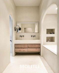 Bathroom Inspo, Bathroom Styling, Bathroom Interior Design, Interior Decorating, Ibiza Style Interior, Style Ibiza, Dream Home Design, House Design, Interior Natural