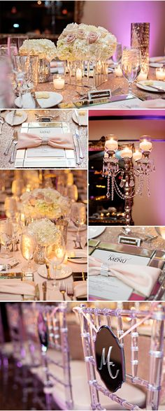 A Wedding Reception Inspired by Mirrored Furniture! This is so Glamorous!