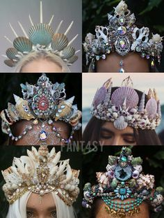 Shell crowns tiaras ocean mermaid