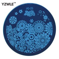 [Visit to Buy] 1 PC Fashion JQ25 Nail Art Stamp Stamping Plates Manicure Template, 75 Styles For Choose (JQ-25) #Advertisement