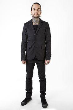 Mens Pinstriped Top cat jacket - Snygg kavaj från Shock 21e98398ee83f