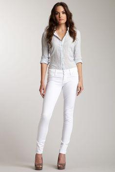 Summer style. White Denim