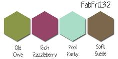 Stampin' Up! Color Inspiration: Old Olive, Rich Razzleberry, Pool Party, Soft Suede