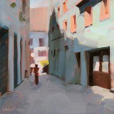 Alley Shadows, painting by artist Carol Marine