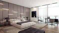Dormitorio matrimonio moderno.