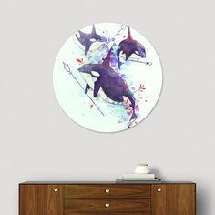 Discover «whales_animalia», Limited Edition Disk Print by Hittouch - From 59€ - Curioos