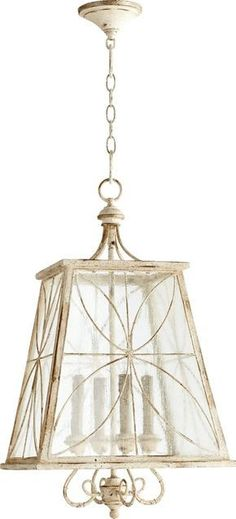 Quorum Salento 4-Light Chandelier Persian White with Mystic Silver 6816470