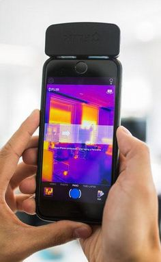 The Flir One camera will give your phone thermal vision. - W Technology Gadgets Électroniques, Phone Gadgets, Cool Gadgets, Kitchen Gadgets, Cool Technology, Technology Gadgets, Logitech, Electronic Gadgets For Men, Spy Gear