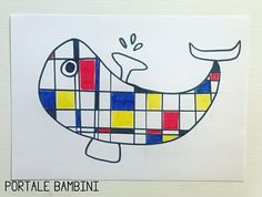 Crafts For Kids, Arts And Crafts, Diy Crafts, Mondrian Art Projects, Piet Mondrian, Kandinsky, Zoo, Collage, Drawings
