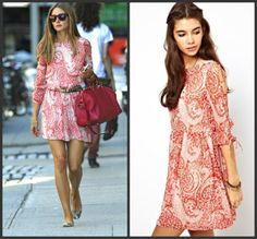 Get Olivia Palermo's pretty paisley dress for less!