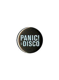 "<p><em><i>Losing the feeling of feeling unique.</i></em></p> <p>Black pin with teal Panic! At the Disco logo.</p> <ul> <li>1 ¼"" diameter</li> <li>Imported</li> </ul>"