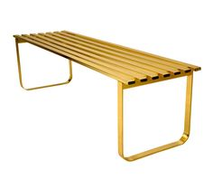 gold bench.