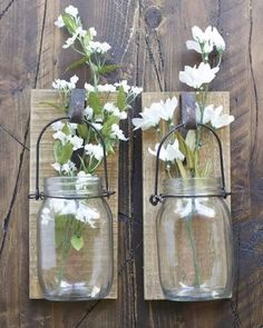 Use this Hanging Canning Jar to display fresh flowers, votive candles or your other treasures!  http://gincreekkitchen.com/collections/view-all/products/hanging-canning-jar #instadaily #homesweethome #nashville #fixerupperstyle #farmlife #farmhouse #farmhousedecor #decor #wallart #vintage #flowers #vintage