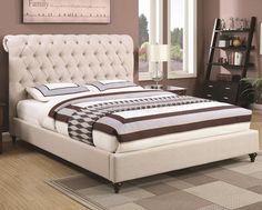 COASTER DEVON UPHOLSTERED BED FRAME                                                                                                                                                     More
