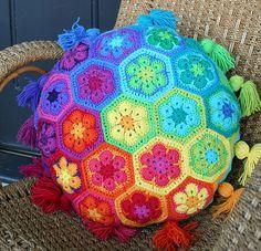 Crochet Pillow --  Love it!