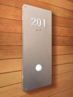 Luxello illuminated Modern Room Number Sign Braille : surrounding.com