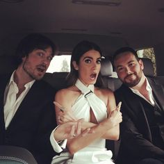 Nikki and Ian Somerhalder on way to the 2015 CMT Music Awards (06/10/15)