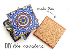 DIY Tile Coasters! These are so easy and they make a great housewarming or hostess gift!