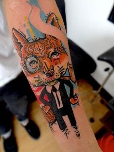Click the blog link to check out all these awesome fox tattoos.