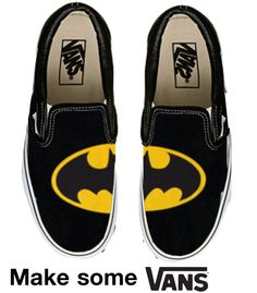Fun and cute shoes that are not heels! I'm a fan of Bucket feet and Vans Sock Shoes, Vans Shoes, Shoe Boots, Shoes Heels, Batman Shoes, Batman Outfits, Hipsters, Nananana Batman, Vanz