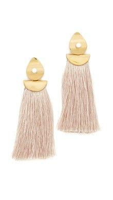 Vanessa Mooney The Astrid Knotted Tassel Earrings | SHOPBOP