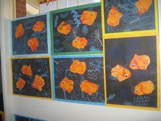 How stinkin cute is this!!! Paul Klee fish from handprints!!  {_4540 by thornberry, via Flickr}