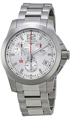 Longines Sport Conquest Silver Dial Stainless Steel Mens Watch L37004766 *** Visit the image link more details.