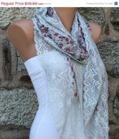 ON SALE Multicolor Long Scarf -  Cowl