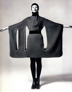 Pierre Cardin 1960s. Awesome cape dress