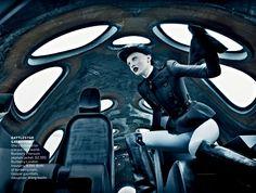 ph: steven klein  Karen Elson in Vogue US, September 2012.  Stylist: Tonne Goodman  Make-up: Val Garland  Hair: Garren