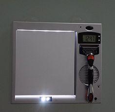 Shaver Holder Combination Anti-fog Mirror & Uv Lights Sterilize Shave Shelf & Clock & Radio Shaver Case for Bathroom Shower Room - Father Day Birthday Men's Gift qlee http://www.amazon.com/dp/B00Z7ELN3C/ref=cm_sw_r_pi_dp_Zj2Gvb1NY9P7D