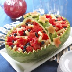 I remember all the great family parties we had when I was growing up. The watermelon boat was one of my favorites!