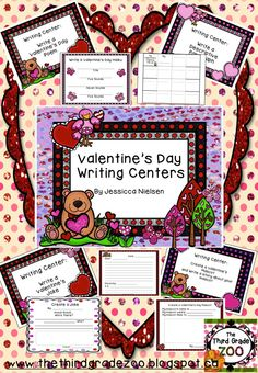 $This package includes 20 unique and creative Valentine's Day themed writing centers. Each writing center includes a poster to hang in the classroom or leave at the center, and all of the writing paper, graphic organizers, directions and checklists you will need. These writing centers would fit nicely into any Daily 5 or center/station routine.