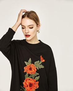 ZARA - WOMAN - FLORAL EMBROIDERED PATCH DRESS