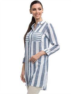 Одноклассники Stripes Clothing, Kurta Style, Stripped Shirt, Shirt Blouses, Shirts, Kurti, Party Dress, Tunic, Stitch